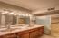 Master Bathroom With Sunken Shower & Dual Sinks