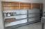 Storage room in the garage