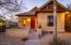 Exterior stucco features integral color