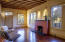 Great room features mesquite hardwood flooring