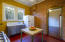 Kitchen with Douglass Fir tongue and groove flooring