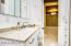 HALL BATHROOM WITH BUILT IN LINEN CLOSET
