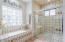 Master bath oversized shower with bench