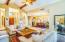 living room, vaulted ceilings.