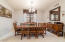 Spacious formal dining room is perfect for entertaining friends and fmaily.