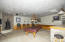 Game room / workout room / movie room Bar sink and refrigerator