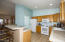 Kitchen with bar and pantry, Stove, Microwave, Dishwasher and Garbage disposal are new