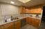 Lots of counter space, new dishwasher and view to backyard!