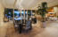 Another perspective of the beautiful dining area and the sweeping city view beyond
