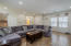 Huge great room with plenty of natural light