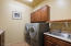 Washer/Dryer, Utility sink & cabinets for storage