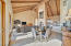 Expansive great room with soaring ceilings