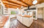 Spacious kitchen with modern amenities