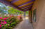 Colorful & inviting front porch entrance.