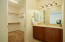 Jack and Jill-each bedroom has its own vanity area entrance to the bathroom.