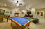 Stylish Travertine Floors In This Family Room/Game Room