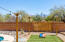 This yard is fully fenced in, with custom gates for backyard entrance!