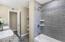 Custom Tiled Shower/Bath, Granite, Dual Vanities, Storage