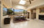 Open floorplan dining and living room with breathtaking Catalina mountain views