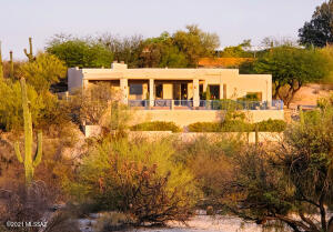 Back patio overlooks pristine desert and the Catalina Mountains.