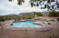 View of heated pool/spa from patio.