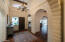 14' Beamed Ceiling w/Wrought Iron Chandelier