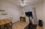 Guest Bedroom with Double Doors & Wood Plank Tile