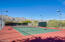 One of two tennis courts