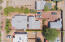 Overhead view. From left to right is main house, breezeway to studio/master suite and guest house.