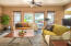 Gorgeous slate floors & glass slider to backyard