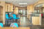 Solid Alder cabinets w/pull outs & Onyx light fixtures