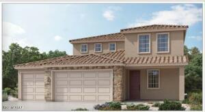 Elevation sketch does not depict the exterior color scheme
