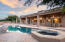 This resort style backyard is low care but has everything you need to entertain friends and family.