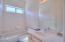 Hall bath with tub/shower