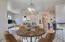 Virtually Staged Dining/living room