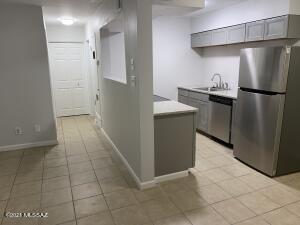 New stainless appliances, sink, faucet and granite counter tops.