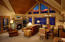 Typical vaulted ceiling living area of a residence at Fairmont Heritage Place Franz Klammer Lodge in Telluride, Colorado