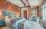 A plush master bedroom that commands views of the San Sophias