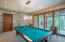 The billiard room is a perfect compliment to fun times shared with family and friends