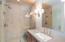 The caretaker's unit bath with its elegant finishes
