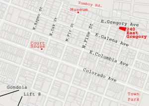240 E Gregory Ave. Telluride CO 81435