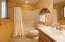 Lower level bath with shower/tub combination