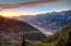 Telluride above. Telluride tucks in the evening with love.
