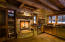 The quintessential warm glow of a cabin fireplace in the heart of the San Juan Mountains.
