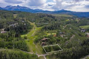 Check out the location, in between holes 2 and 3 of the Telluride Golf Course!