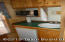 Kitchenette in Log Style Cabin Rentals.