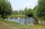 Spring-fed pond.