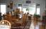 Oversized Dining Area - Door to Deck - Plenty of Natural Sunlight.