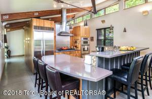 Spacious eat-in kitchen with abundant natural light