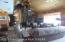 Living room w rock/wood fireplace